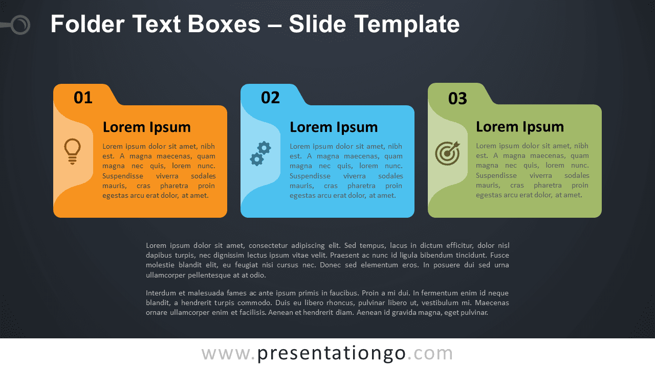 Free Folder Text Boxes Graphics for PowerPoint and Google Slides