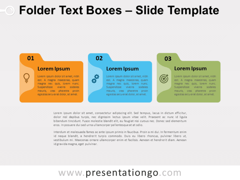 Free Folder Text Boxes for PowerPoint