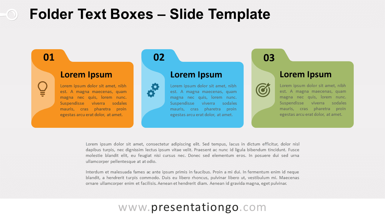 Free Folder Text Boxes for PowerPoint and Google Slides