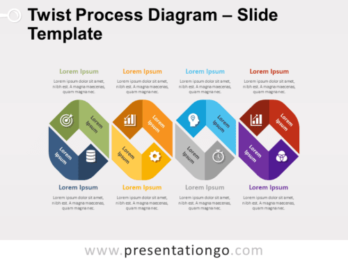 Free Twist Process Diagram for PowerPoint