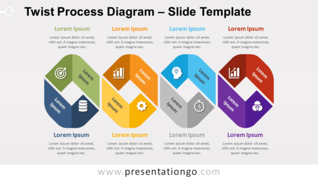 Free Twist Process Diagram for PowerPoint and Google Slides