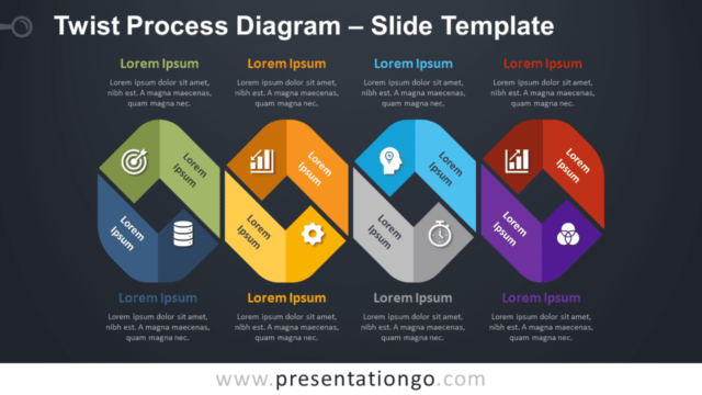 Free Twist Process Diagram Timeline for PowerPoint and Google Slides