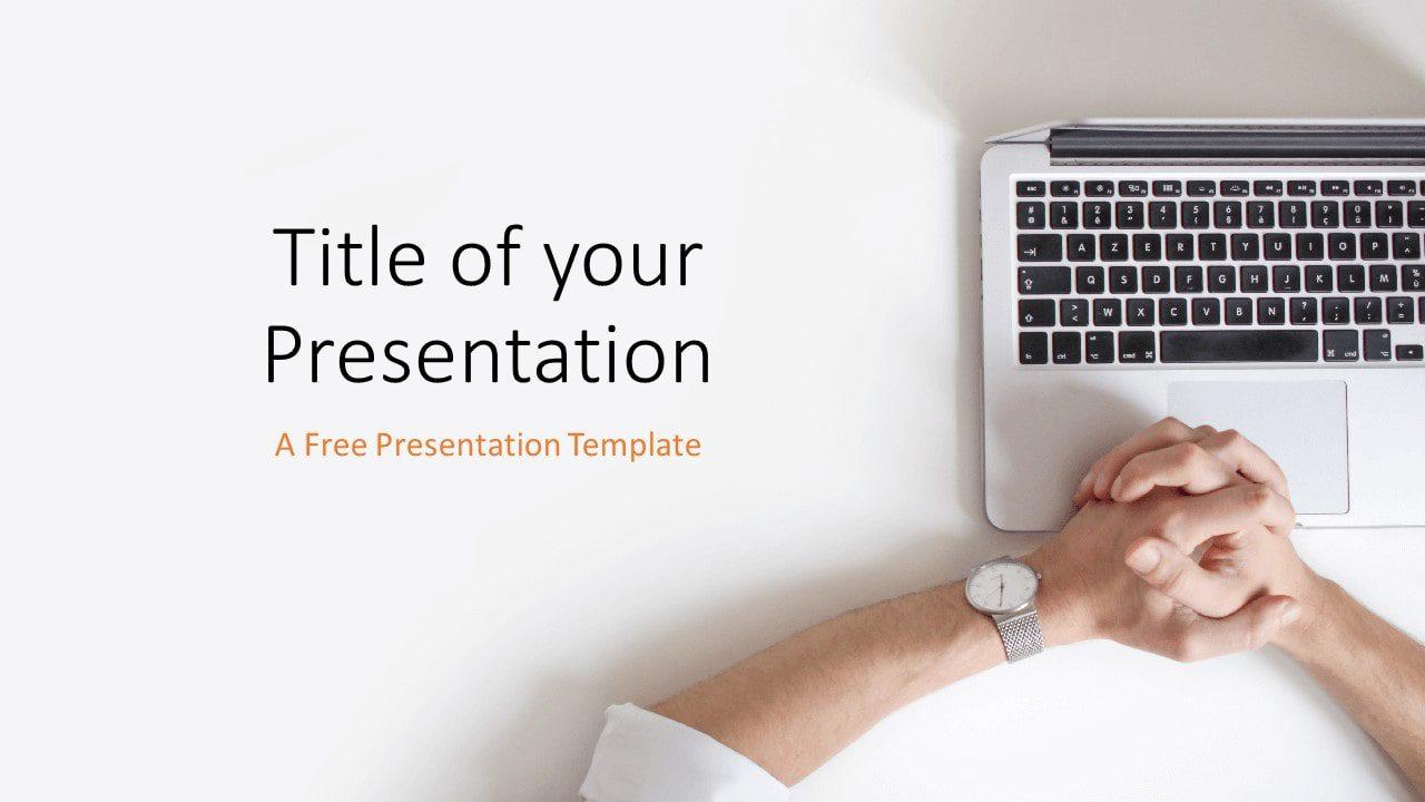 Free Desk Template for Google Slides - Cover Slide