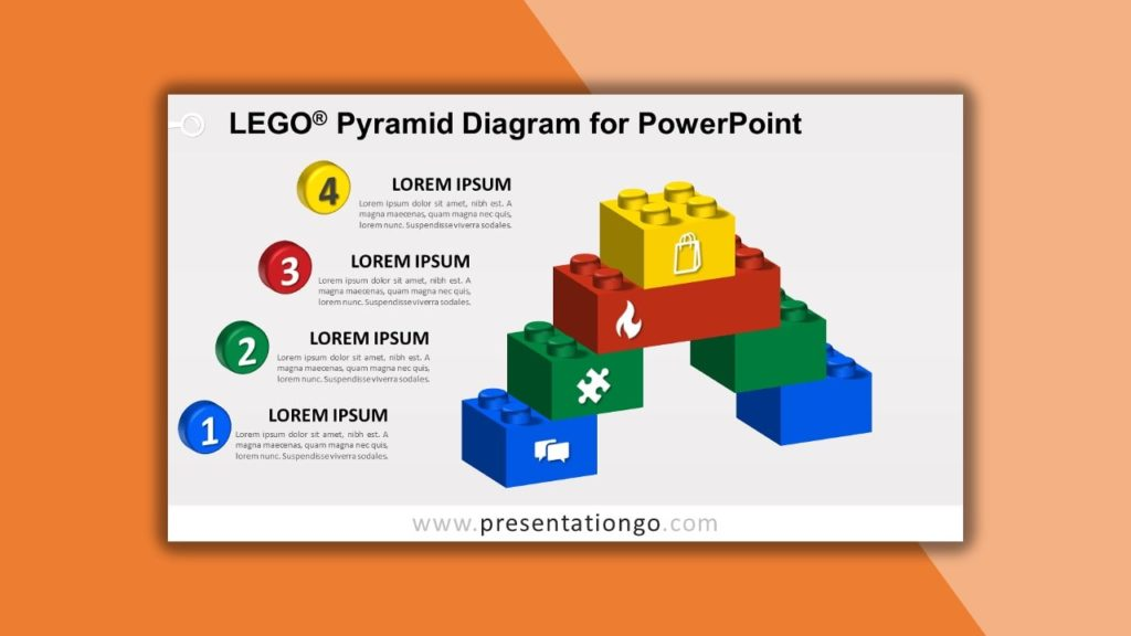 Free Lego Pyramid Diagram for powerpoint and google slides