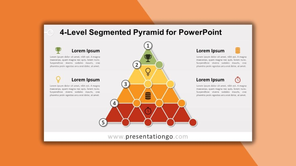 Free 4-Level Segmented Pyramid for powerpoint and google slides