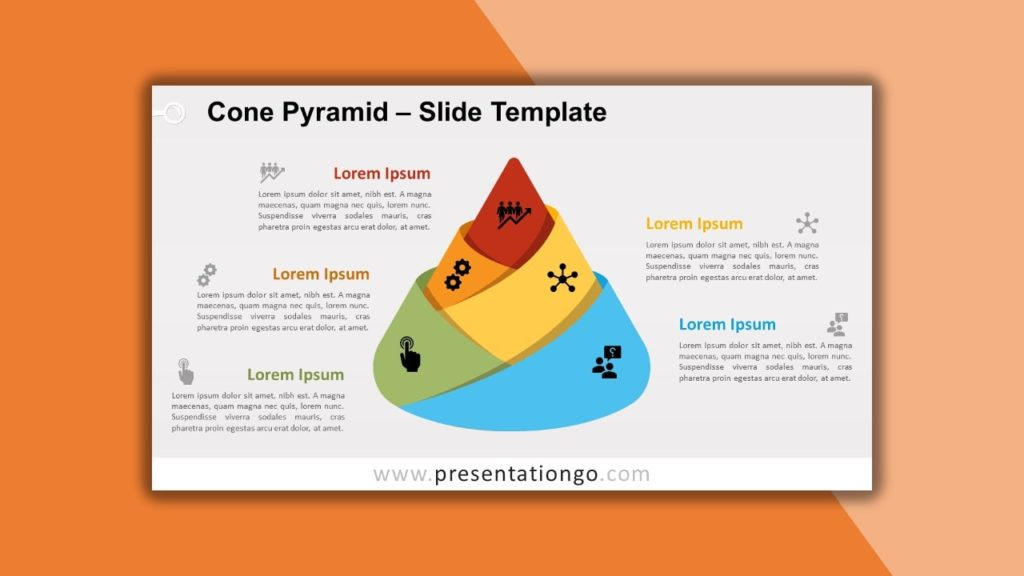 Free Cone Pyramid for powerpoint and google slides