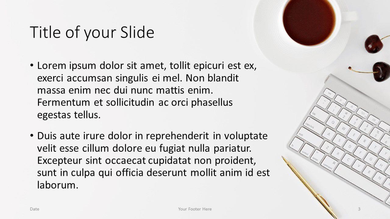 Free Desk Template for Google Slides – Title and Content Slide (Variant 2)