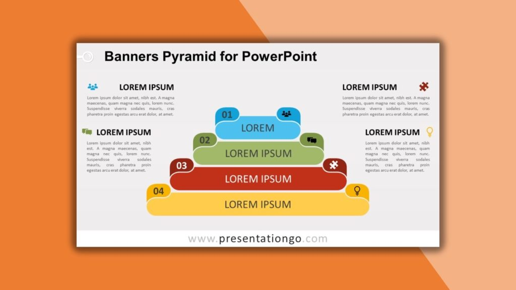 Free Banners Pyramid for powerpoint and google slides