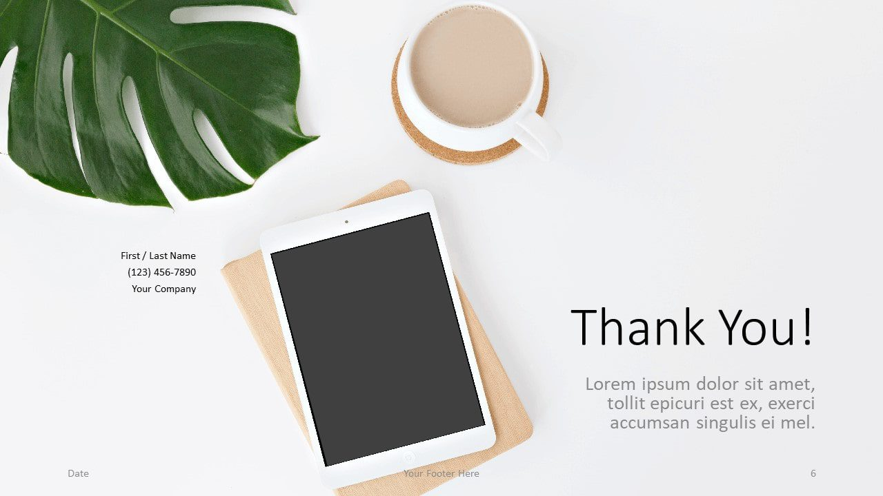 Free Desk Template for Google Slides - Closing / Thank you