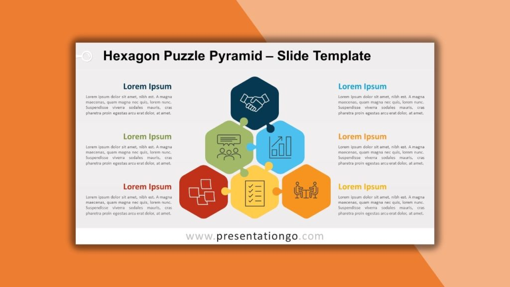 Free Hexagon Pyramid for powerpoint and google slides