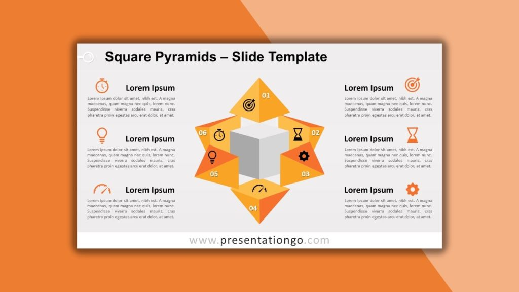 Free Square Pyramid for powerpoint and google slides