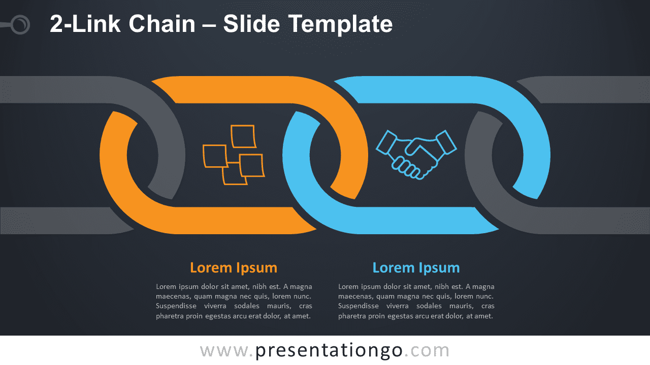 Free 2-Link Chain Graphics for PowerPoint and Google Slides