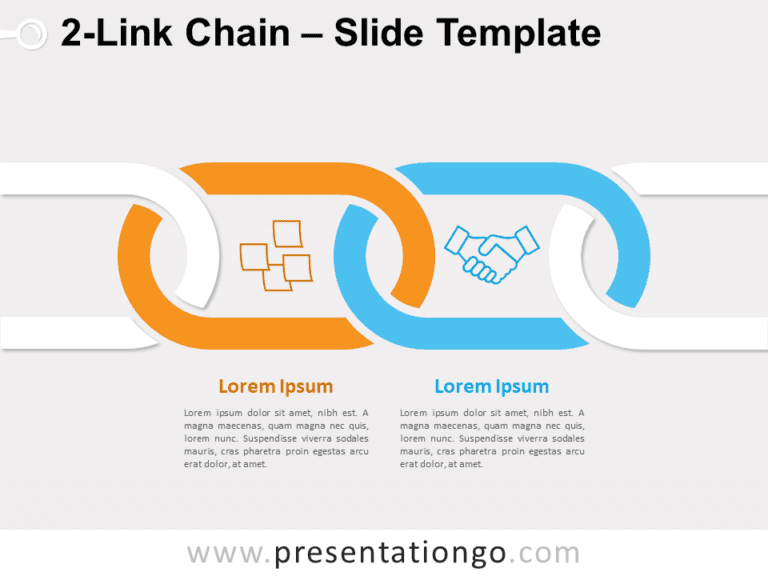 Free 2-Link Chain for PowerPoint