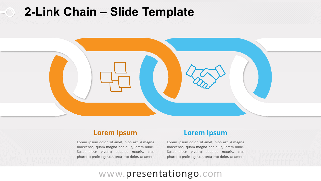 Free 2-Link Chain for PowerPoint and Google Slides