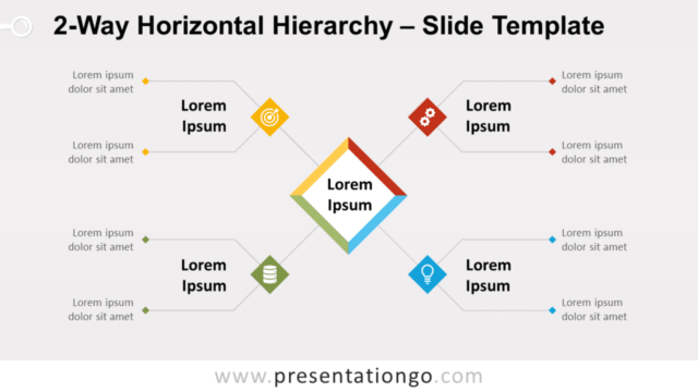 Free 2-Way Horizontal Hierarchy for PowerPoint and Google Slides