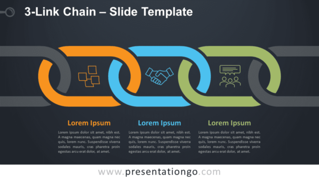 Free 3-Link Chain Graphics for PowerPoint and Google Slides