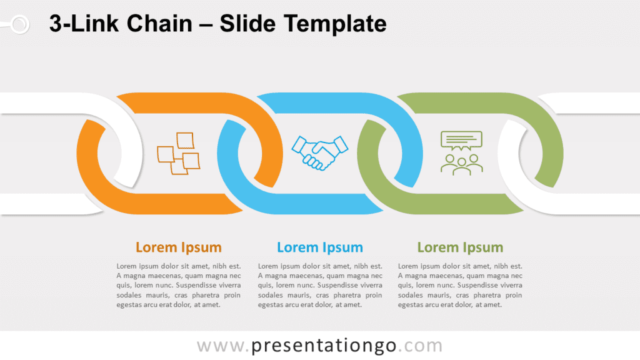 Free 3-Link Chain for PowerPoint and Google Slides