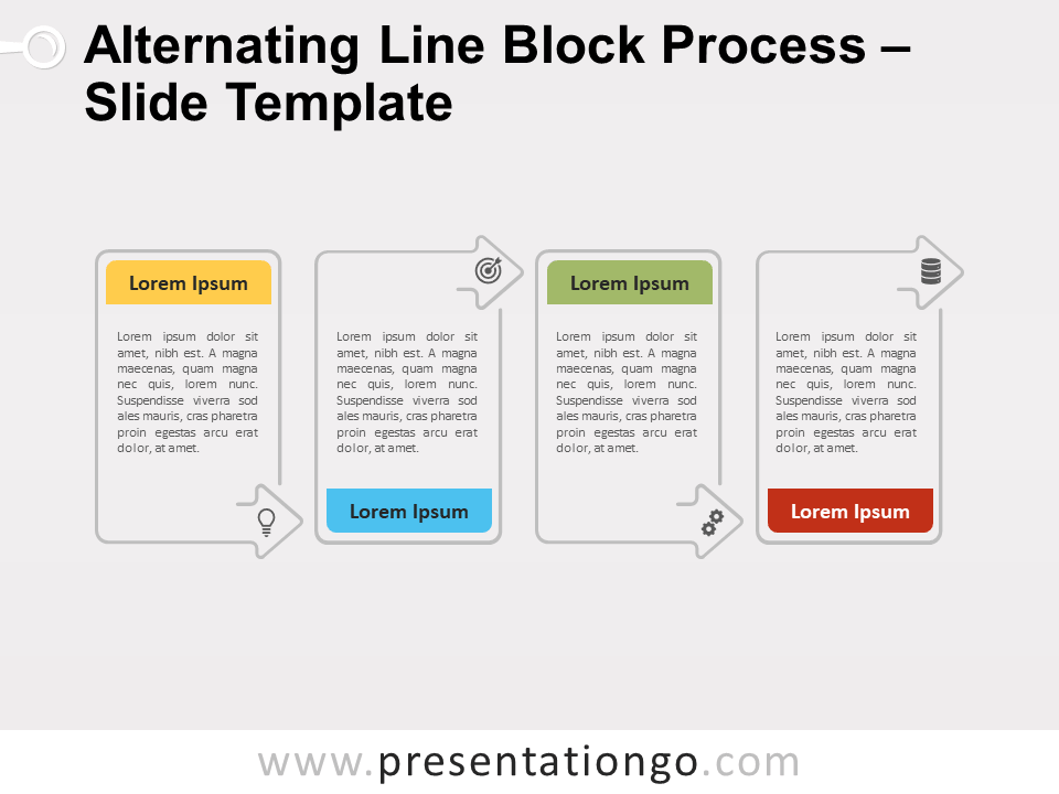 Free Alternating Line Block Process for PowerPoint