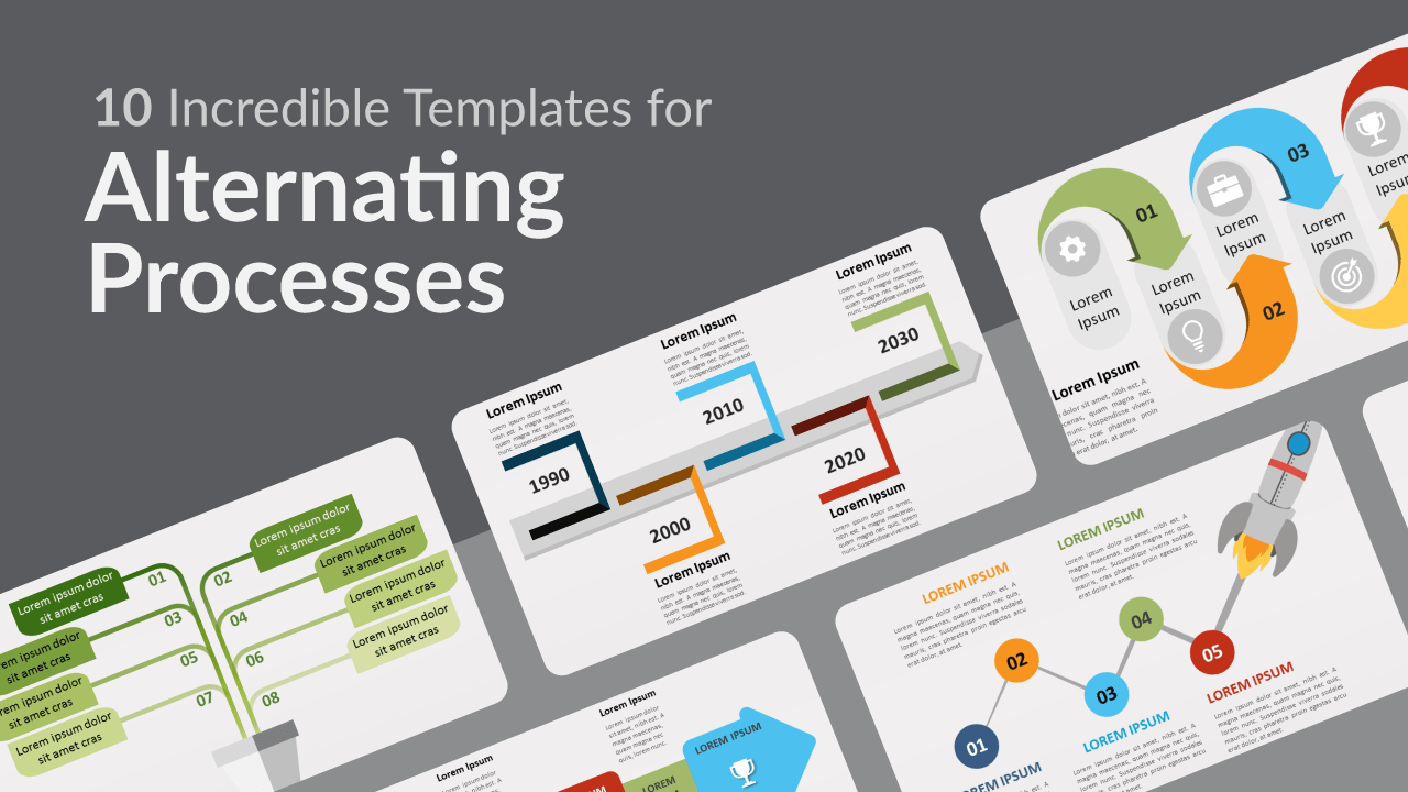 Free Alternating Process Templates for Powerpoint and Google Slides