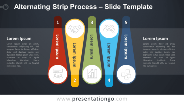 Free Alternating Strip Process Graphics for PowerPoint and Google Slides