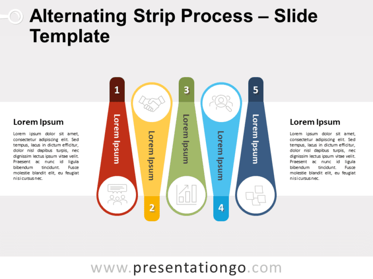 Free Alternating Strip Process for PowerPoint