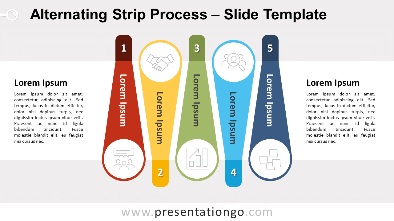Free Alternating Strip Process for PowerPoint and Google Slides