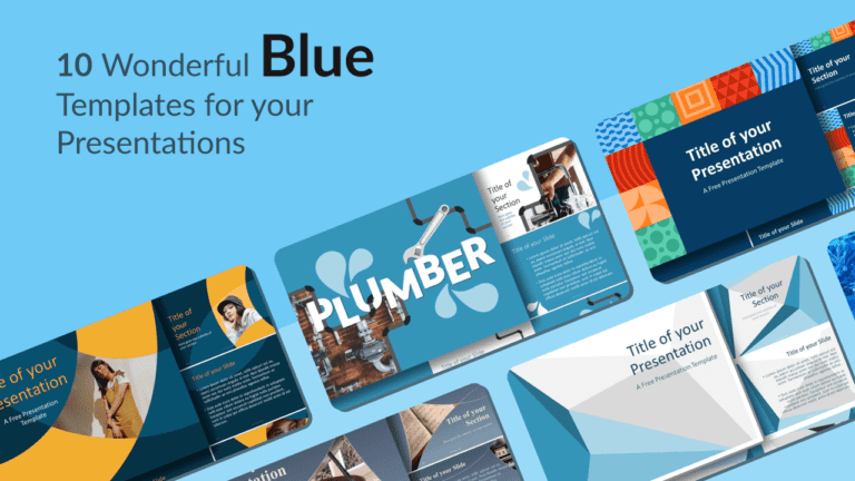 Curated selection of free Blue Templates for Powerpoint and Google Slides
