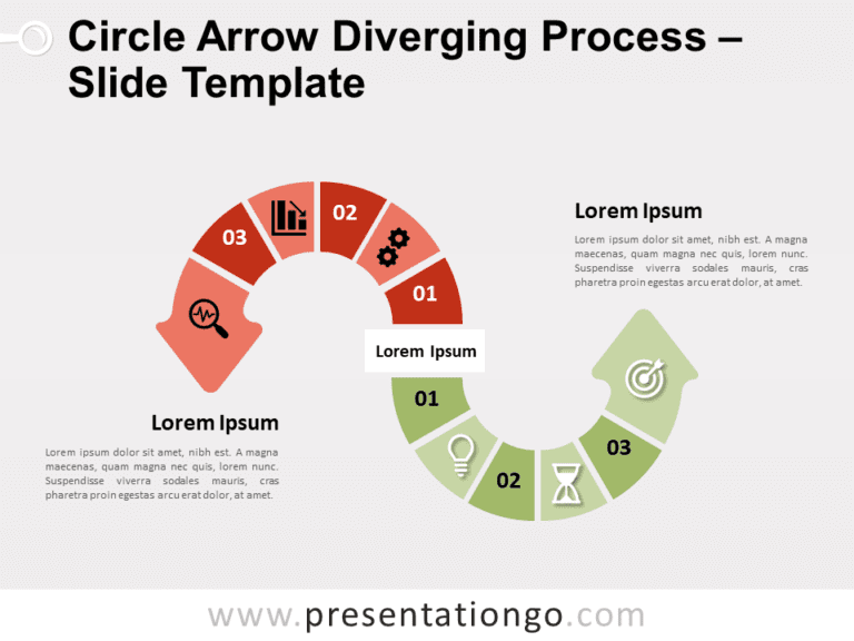 Free Circle Arrow Diverging Process for PowerPoint