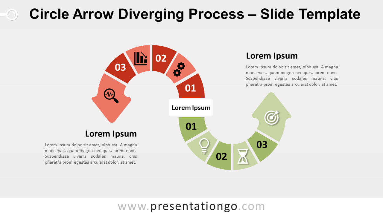 Free Circle Arrow Diverging Process for PowerPoint and Google Slides