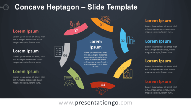 Free Concave Heptagon Diagram for PowerPoint and Google Slides