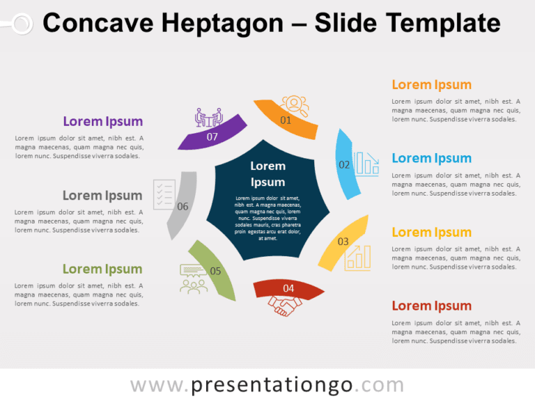 Free Concave Heptagon for PowerPoint