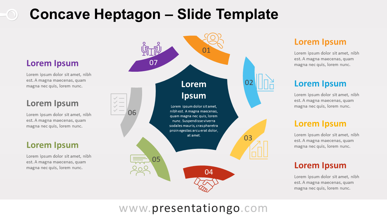 Free Concave Heptagon for PowerPoint and Google Slides
