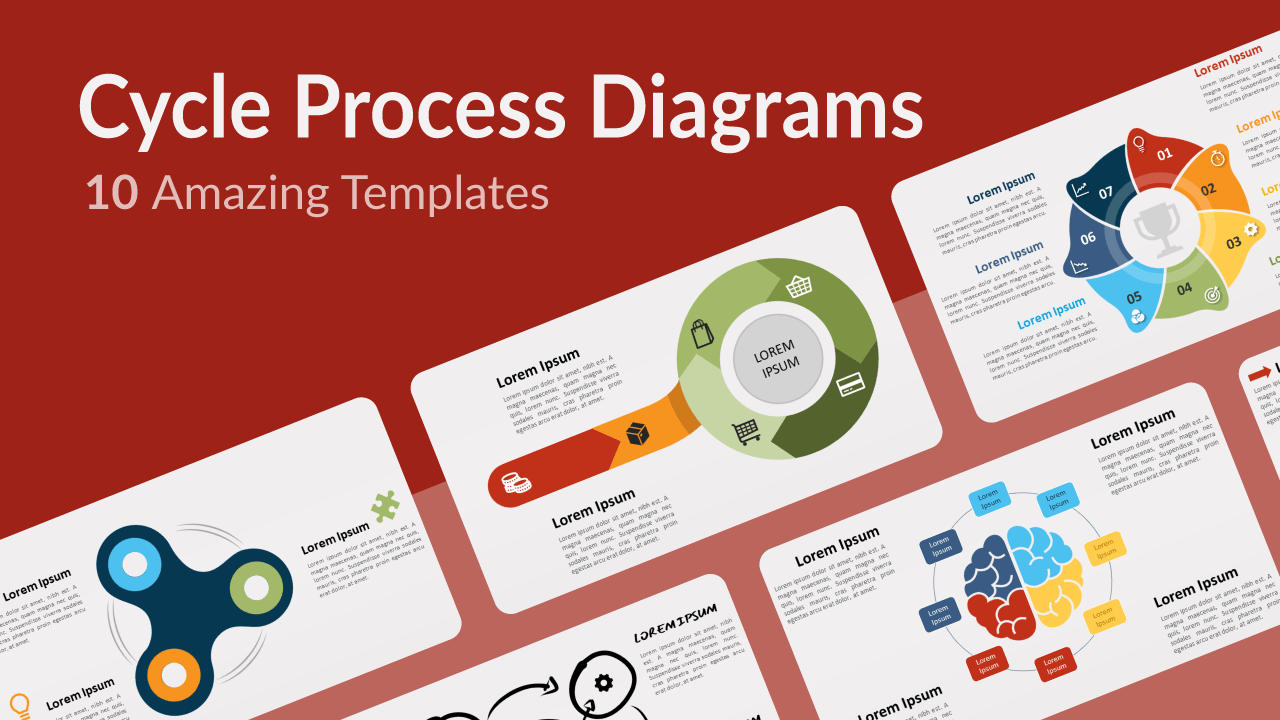Free Cycle Process Diagrams Templates for Powerpoint and Google Slides