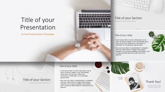 Free Desk Template for Google Slides and PowerPoint