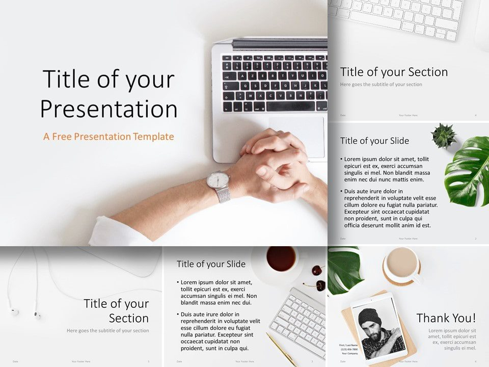 Free Desk Template for PowerPoint and Google Slides