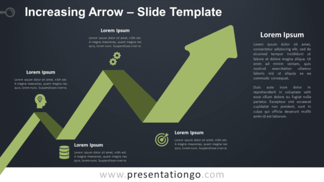 Free Increasing Arrow Graphics for PowerPoint and Google Slides