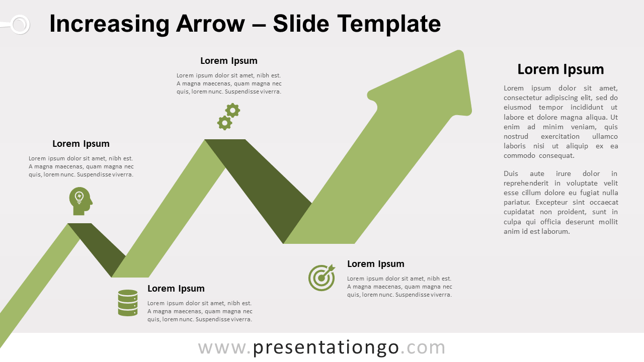 Free Increasing Arrow for PowerPoint and Google Slides