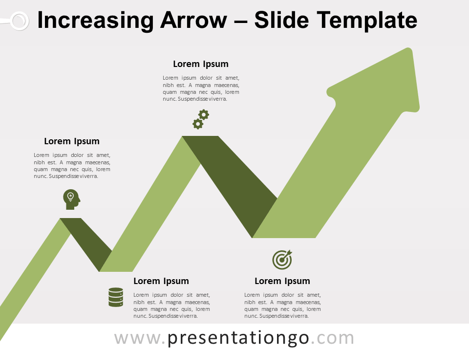 Free Increasing Arrow for PowerPoint