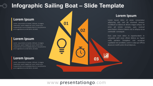 Free Infographic Sailing Boat Diagram for PowerPoint and Google Slides
