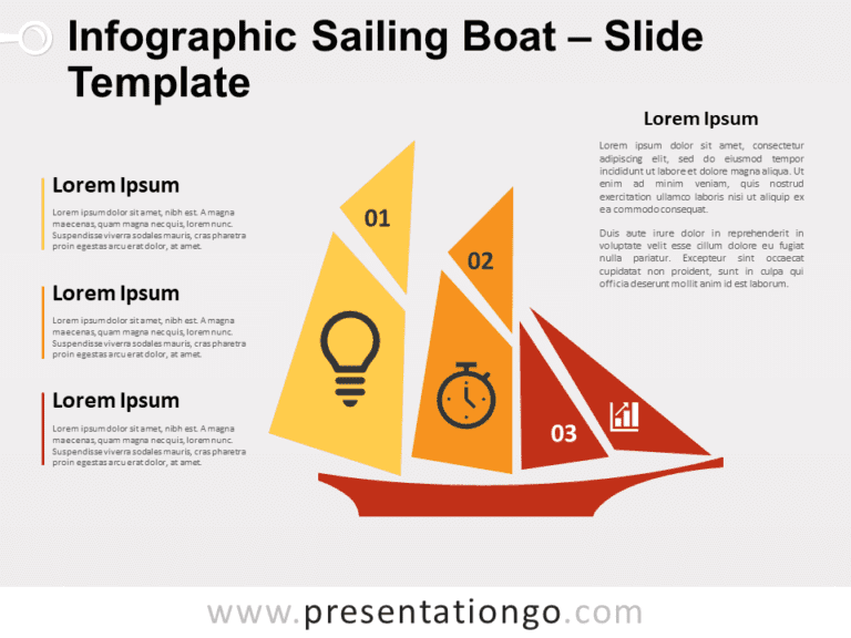 Free Infographic Sailing Boat for PowerPoint