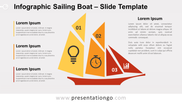 Free Infographic Sailing Boat for PowerPoint and Google Slides
