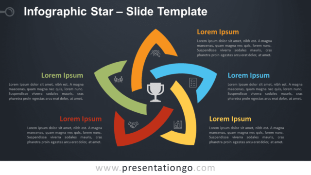 Free Infographic Star Diagram for PowerPoint and Google Slides