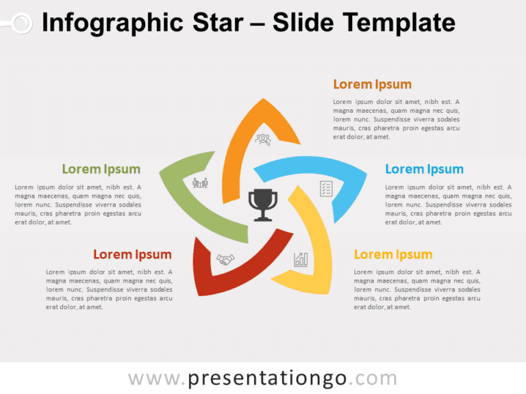 Free Infographic Star for PowerPoint