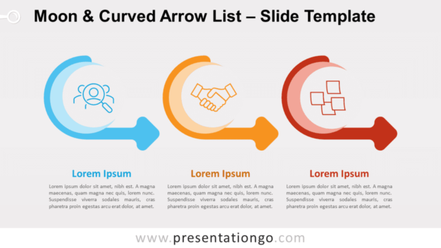 Free Moon & Curved Arrow List for PowerPoint and Google Slides