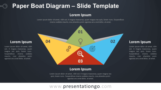 Free Paper Boat Diagram Graphics for PowerPoint and Google Slides