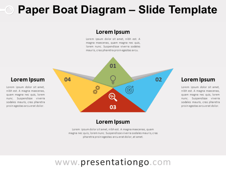 Free Paper Boat Diagram for PowerPoint