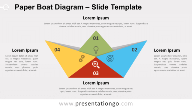 Free Paper Boat Diagram for PowerPoint and Google Slides