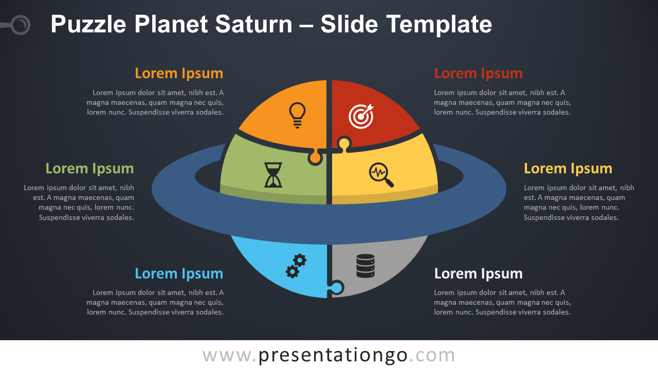 Free Puzzle Planet Saturn Graphics for PowerPoint and Google Slides