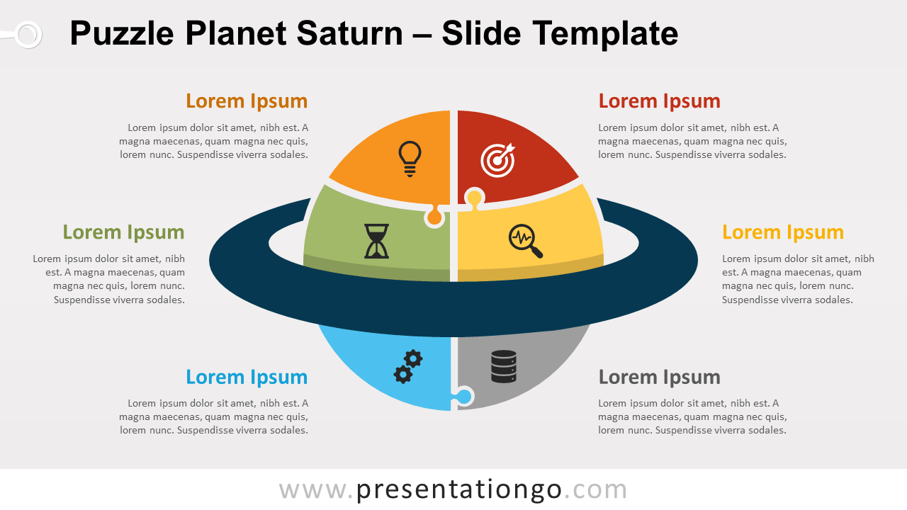 Free Puzzle Planet Saturn for PowerPoint and Google Slides