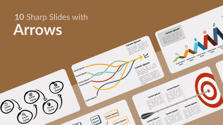 Free Sharp Slides Arrows for Powerpoint and Google Slides